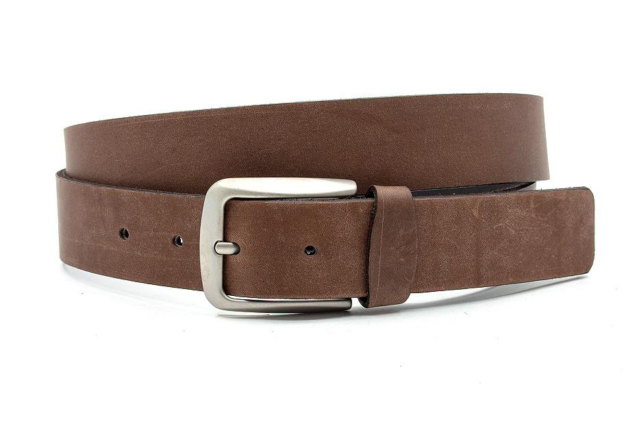 JV Belts Heren-dames riem bruin nubuck leer