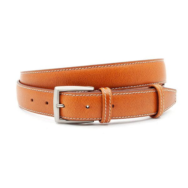 JV Belts Fijne cognac kleurige pantalonriem