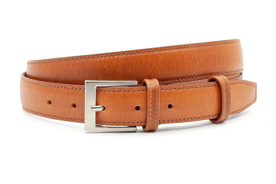 JV Belts Nette cognac kleurige pantalonriem