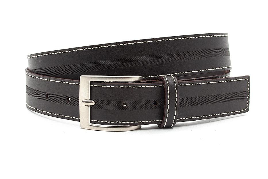 JV Belts Donker bruine herenriem