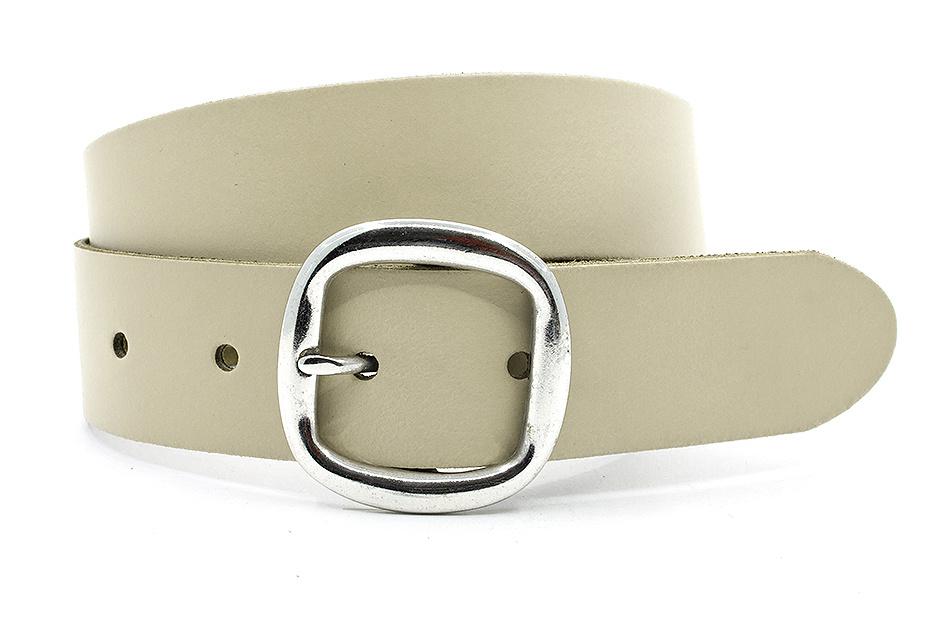 Thimbly Belts Damesceintuur beige met dubbele gesp