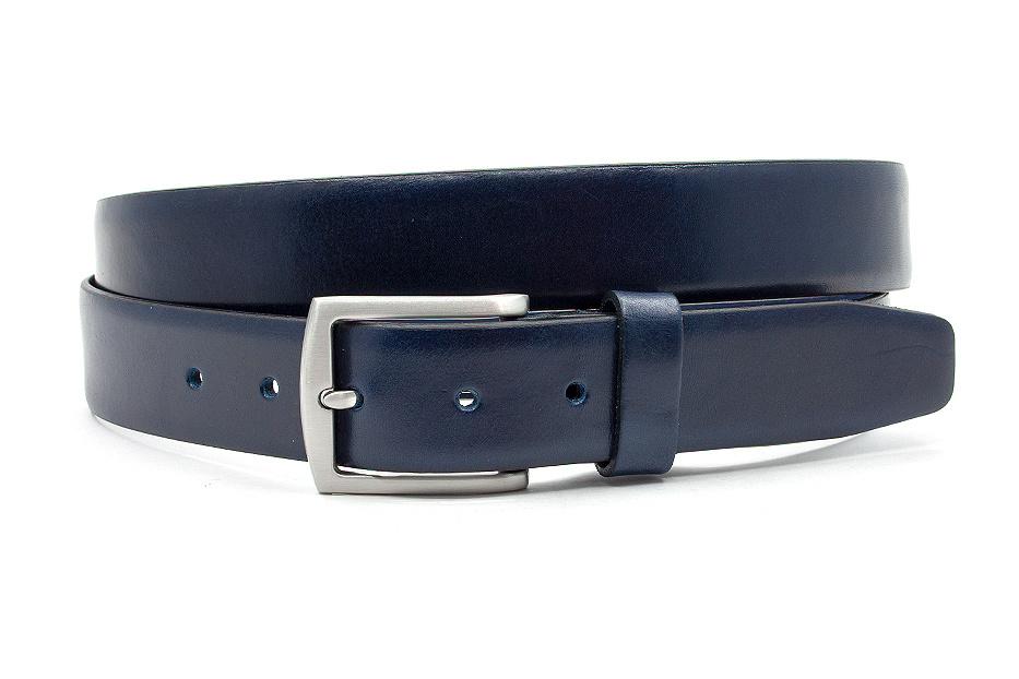 Thimbly Belts Blauwe gebolleerde pantalon riem