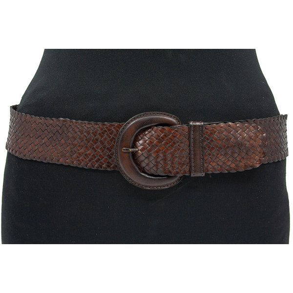 Thimbly Belts Bruine  dames vlechtriem