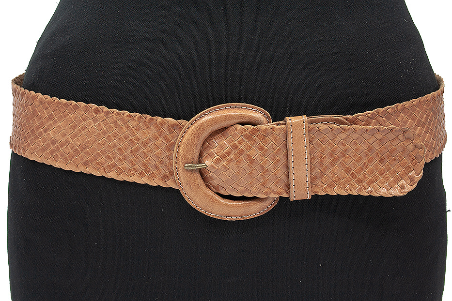 Thimbly Belts Dames vlechtriem naturel