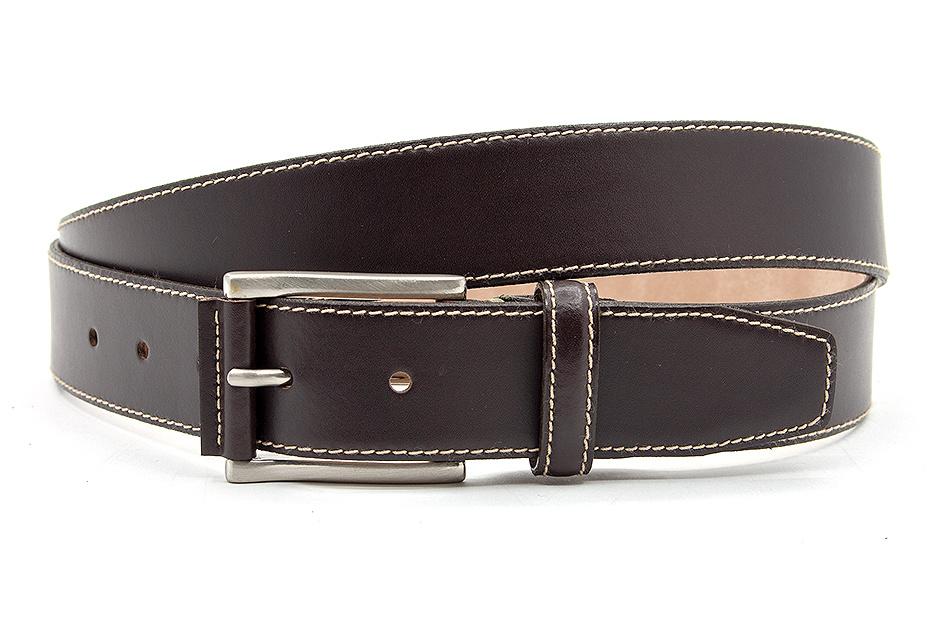 JV Belts Mooie pantalon riem donkerbruin