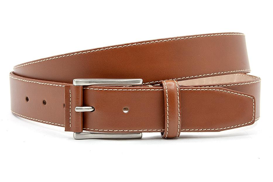 JV Belts Mooie pantalon riem tabakbruin
