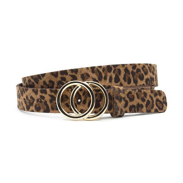 A-Zone Dames ceintuur bruin leopard