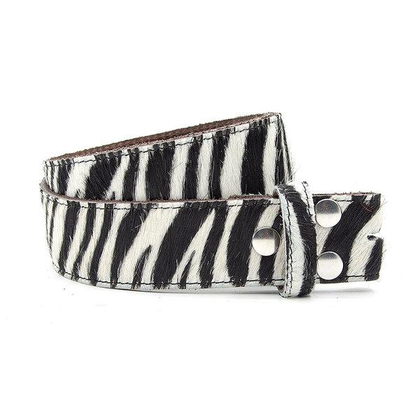 A-Zone Dames riem zonder gesp zebra print