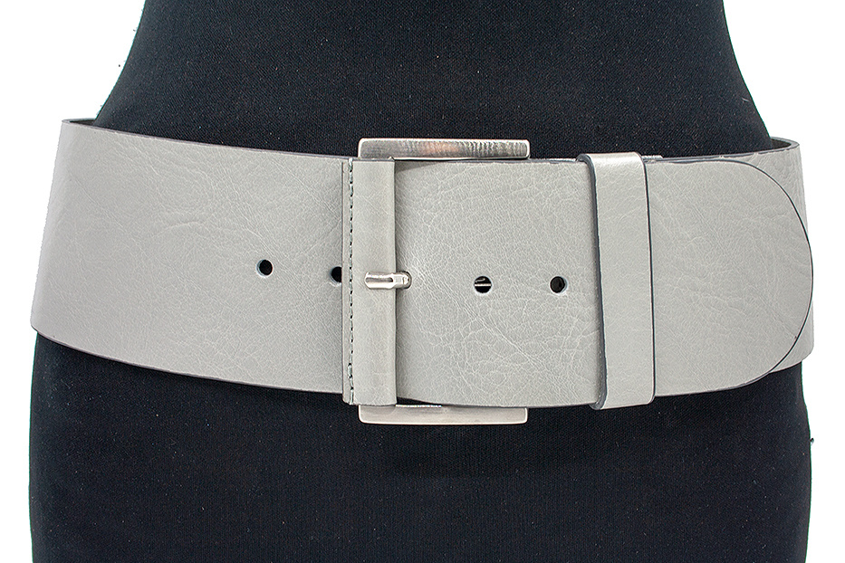 JV Belts Brede heupriem licht grijs