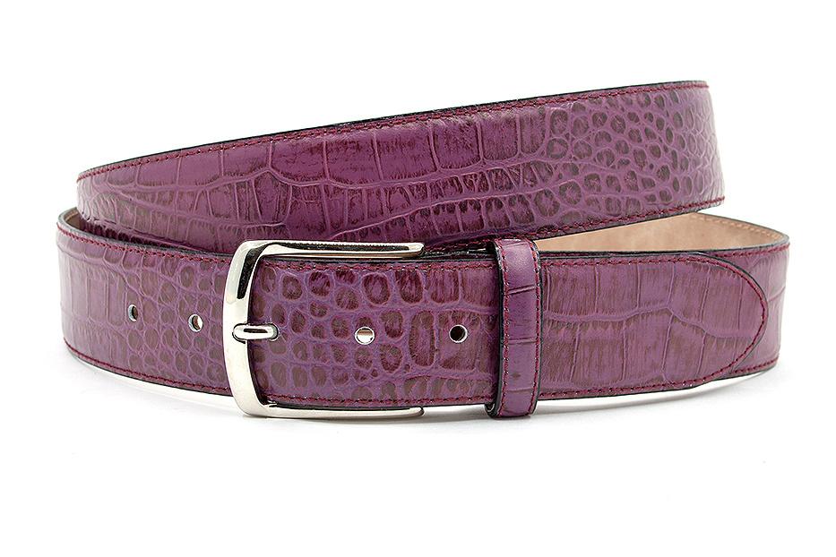 JV Belts Sportieve paarse jeans riem