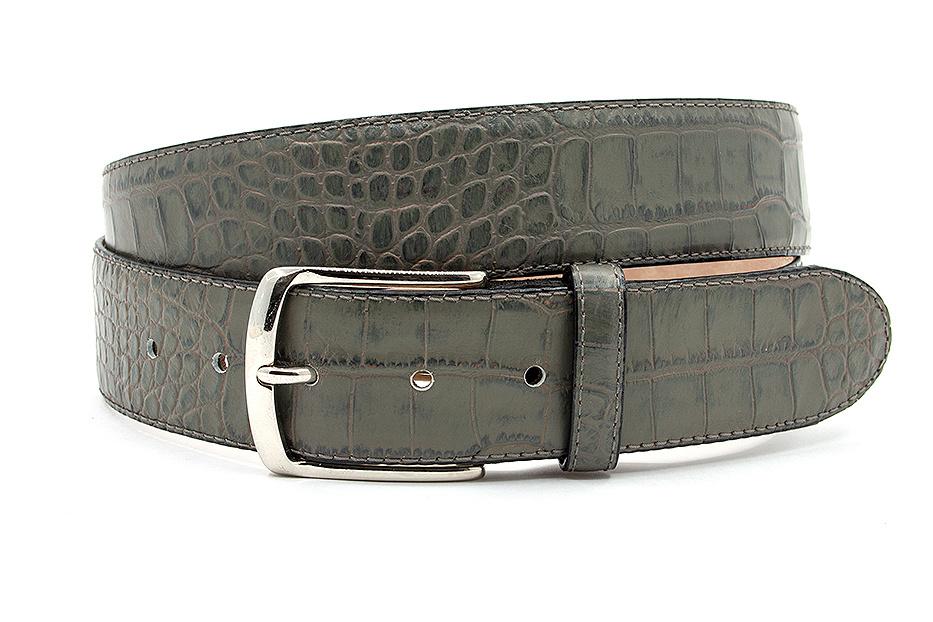 JV Belts Mooie groengrijze jeans riem