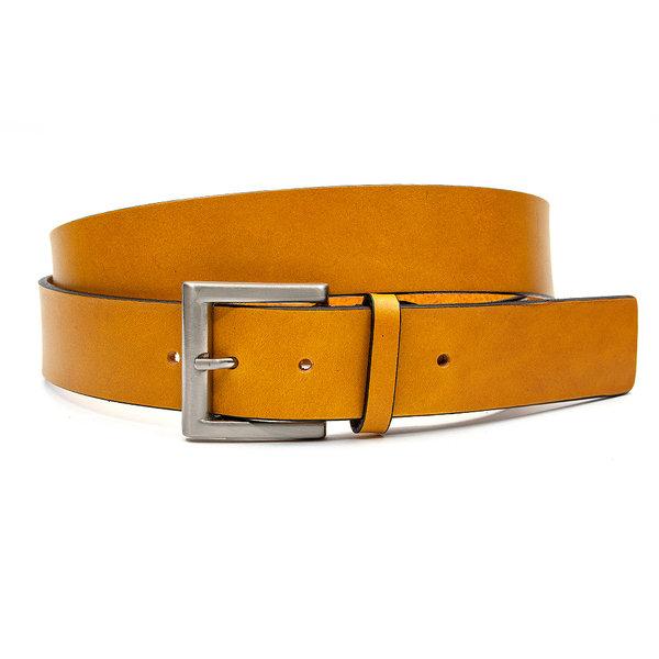 JV Belts Sportieve okergele jeansriem