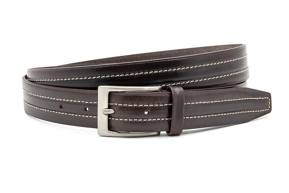 JV Belts Sportieve donkerbruine pantalon riem