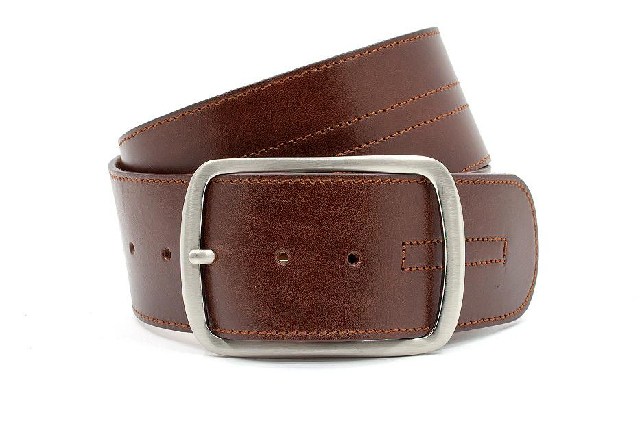JV Belts Brede heupceintuur rood bruin