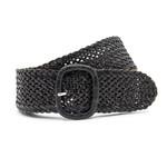 Thimbly Belts Dames vlechtriem zwart