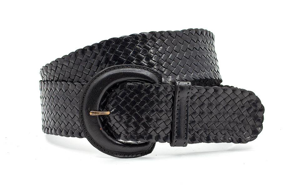 Thimbly Belts Zwarte  dames vlechtriem