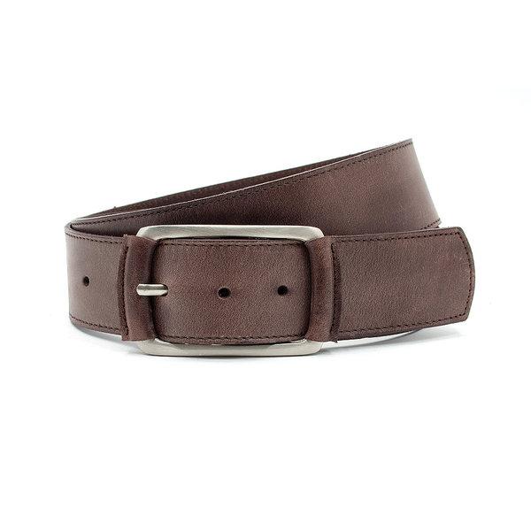 Thimbly Belts Donkere taupe heupceintuur met beklede gesp