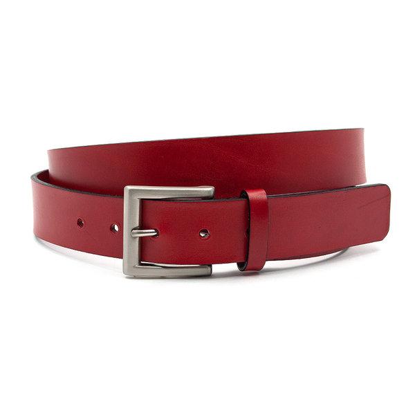 JV Belts Sportieve rode jeansriem