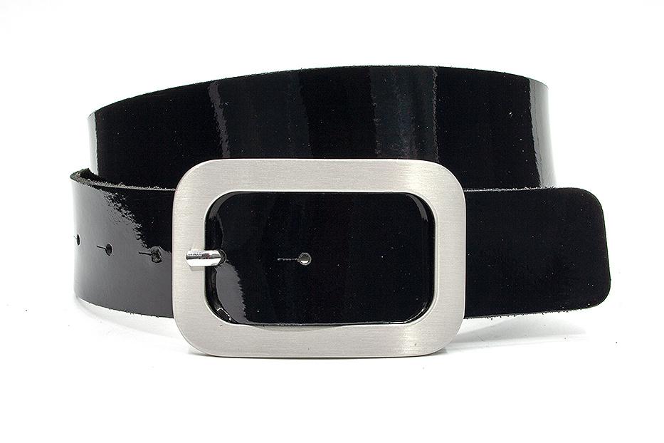 Thimbly Belts Broekriem zwart lak  4cm