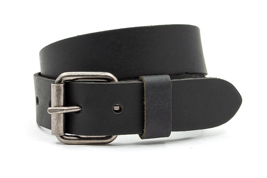JV Belts Leren kinderriem zwart
