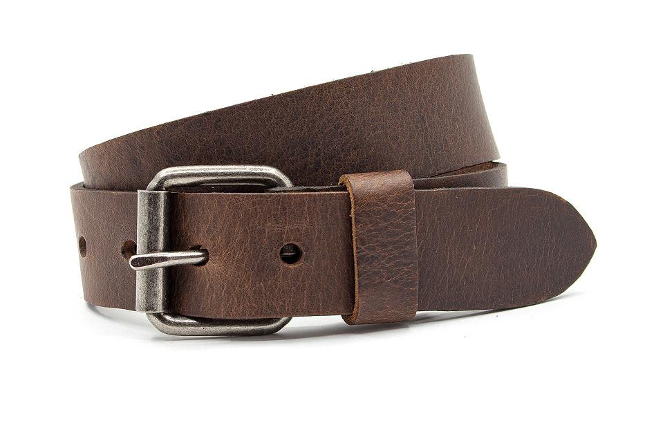 JV Belts Leren kinderriem bruin