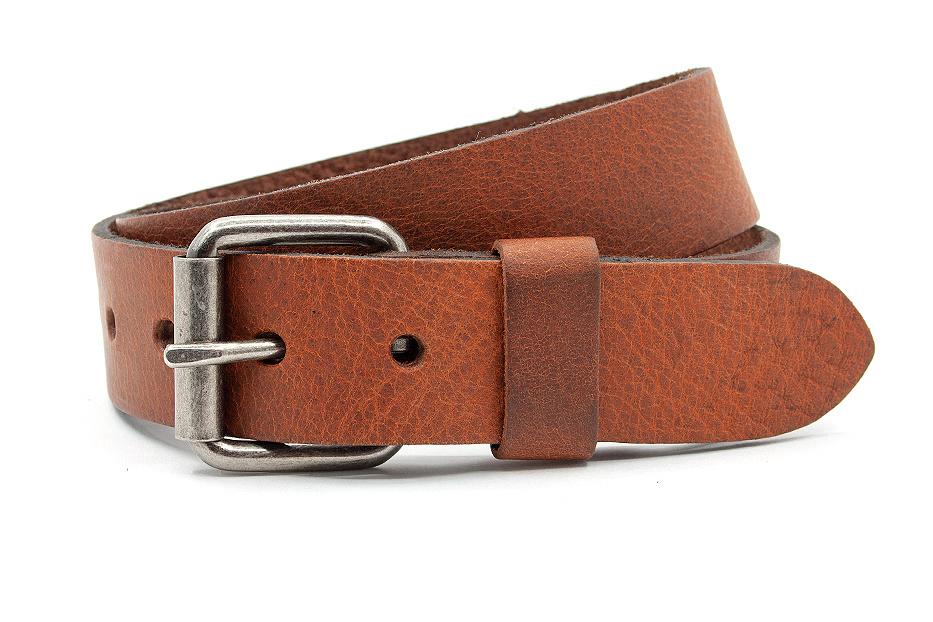 JV Belts Leren kinderriem cognac 3.5cm