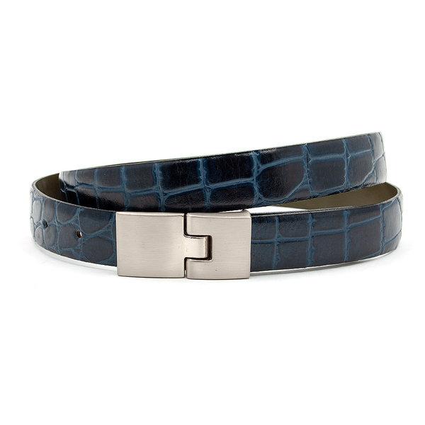 JV Belts Dames riem kroko blauw