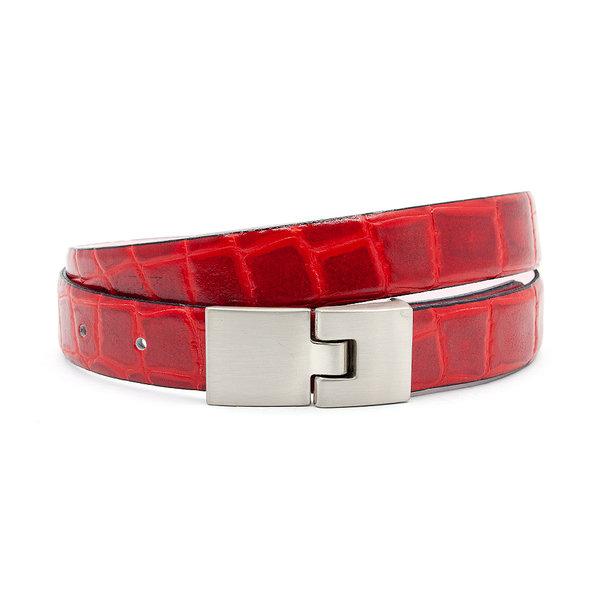 JV Belts Dames riem kroko rood