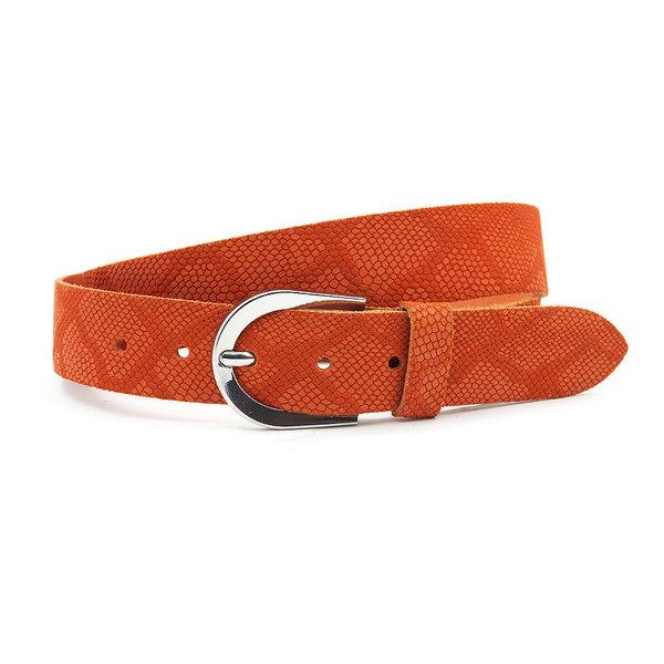 Thimbly Belts Damesceintuur kroko look oranje