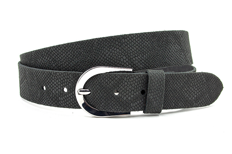 Thimbly Belts Damesceintuur kroko look zwart