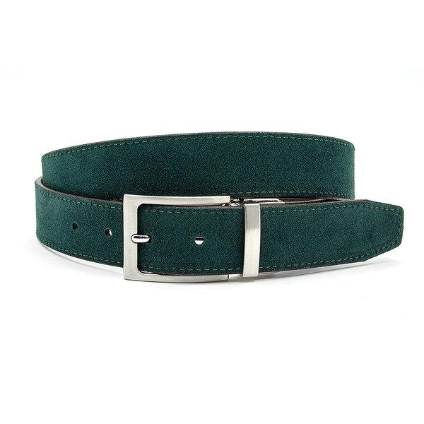 JV Belts Draaibare (reversibel) riem suède groen/bruin