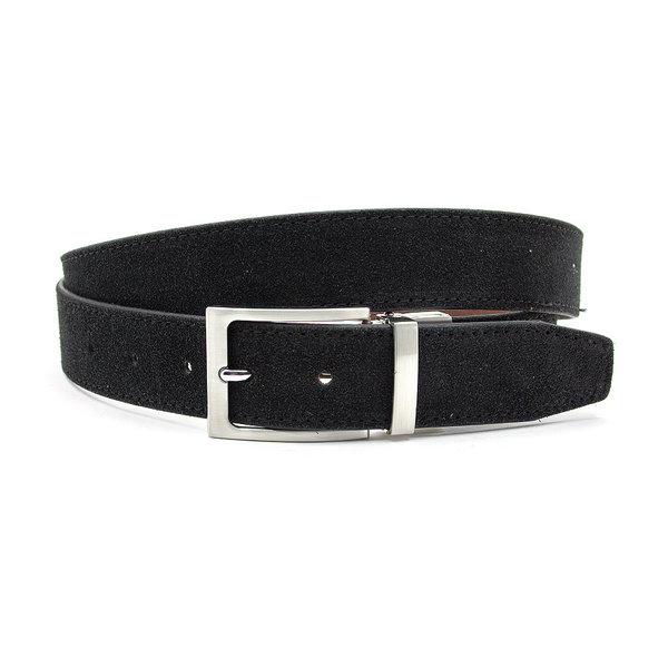 JV Belts Draaibare (reversibel) riem suède bruin/zwart