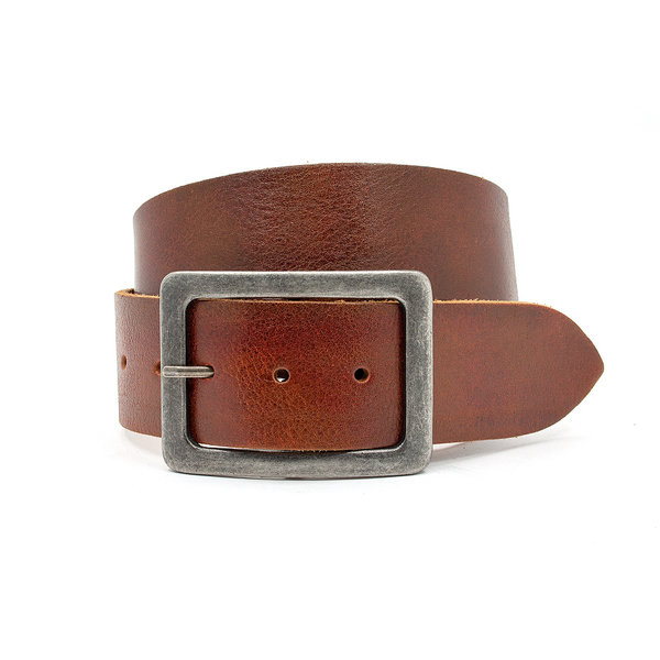 Thimbly Belts Stoere rood bruine unisex riem