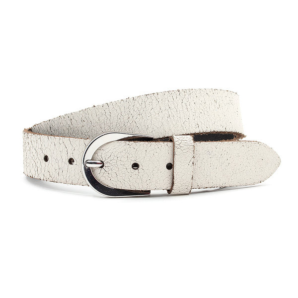 Thimbly Belts Damesceintuur crackle wit