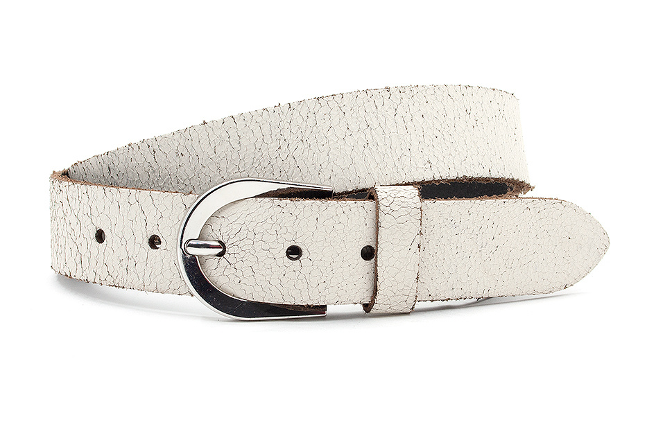 Thimbly Belts Damesceintuur crackle wit