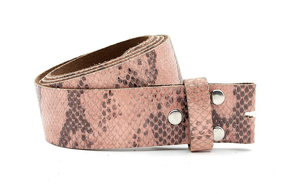A-Zone Dames riem zonder gesp roze kroko print