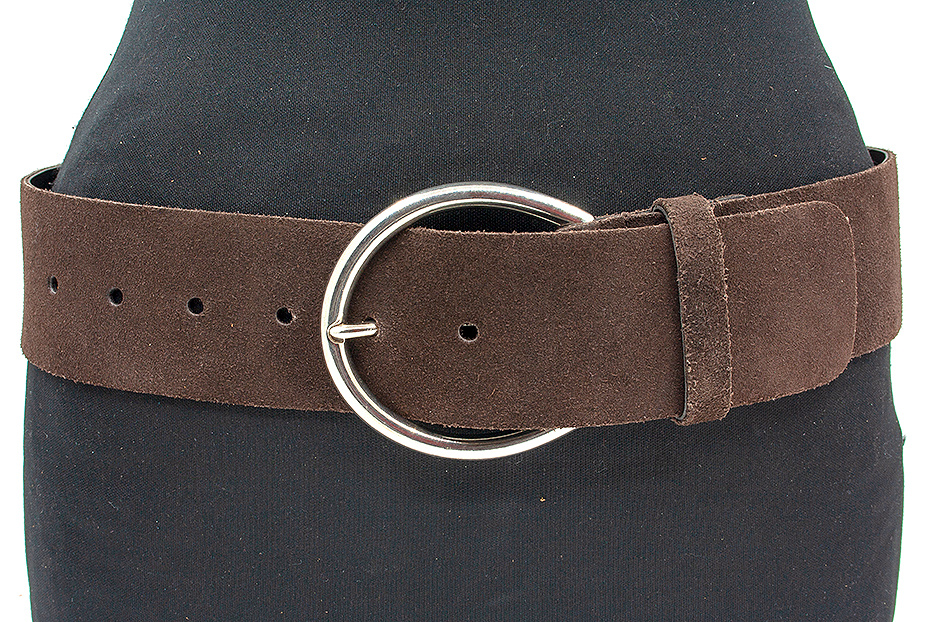 Thimbly Belts Brede bruine heupriem  suède