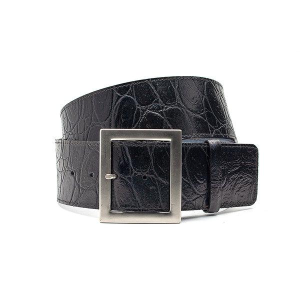 Thimbly Belts Brede zwarte heupriem  kroko