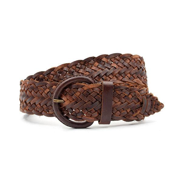 Thimbly Belts Bruin gevlochten leren riem