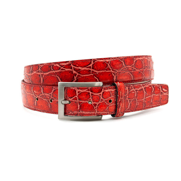 Thimbly Belts Rode croco herenriem