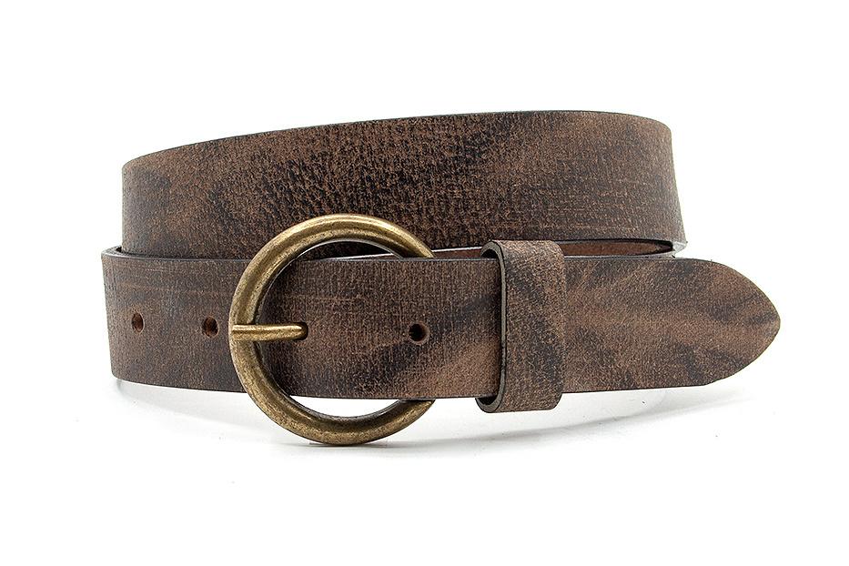 Thimbly Belts Leren kinderriem bruin vintage