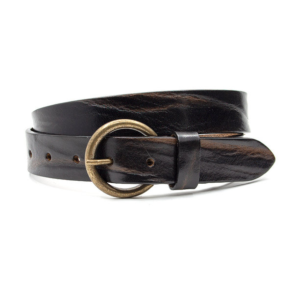 Thimbly Belts Leren kinderriem bruin / cognac