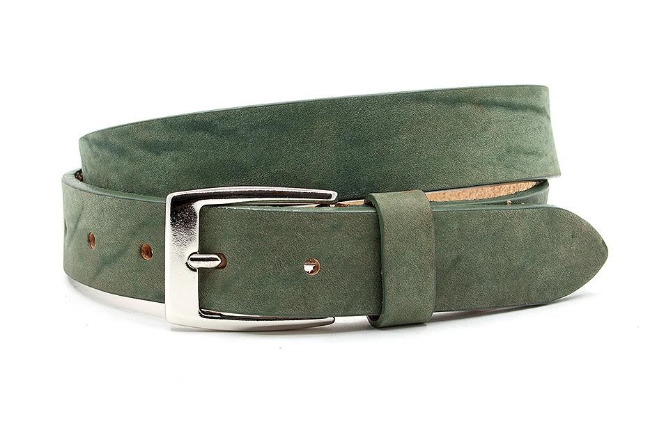 Thimbly Belts Leren kinderriem groen