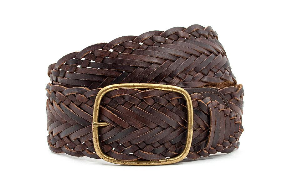 Thimbly Belts Dames vlechtriem bruin