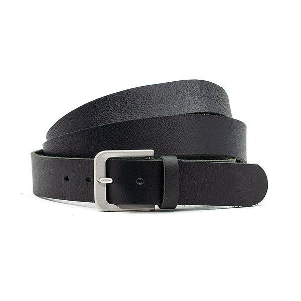 JV Belts Extra lange zwarte herenriem