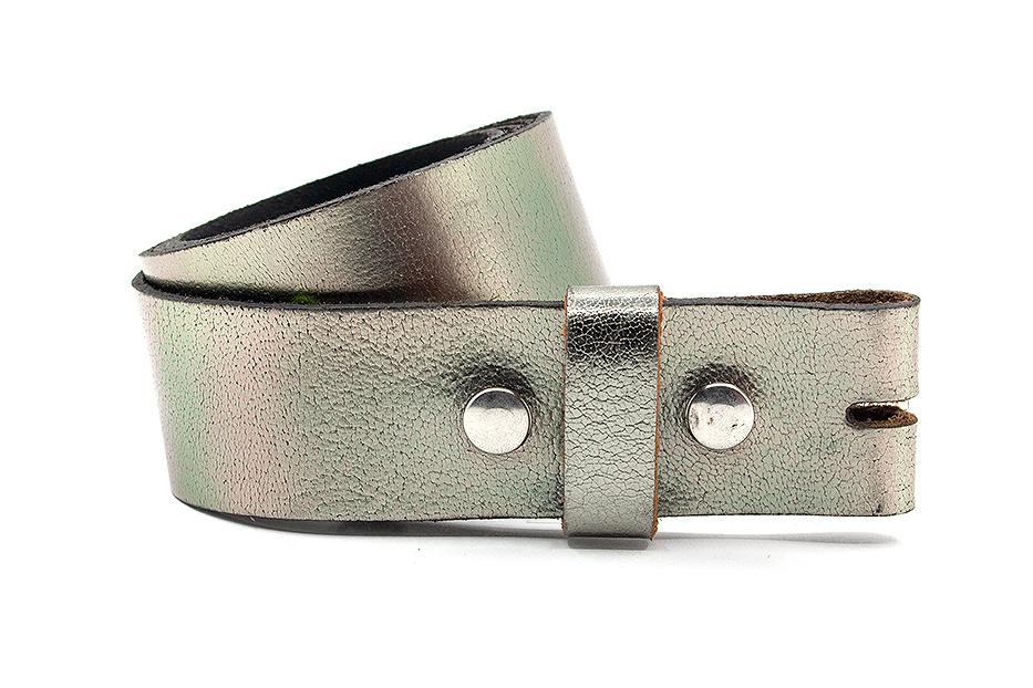 Thimbly Belts Dames riem met drukkers pewter
