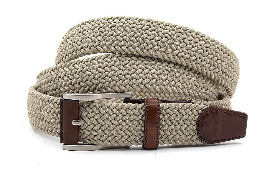 Gilmart Extra lange elastische riem beige