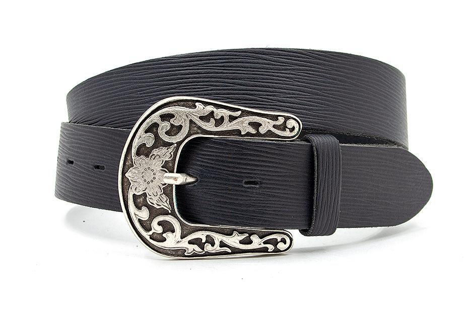 Thimbly Belts Dames jeans riem zwart met fantasiegesp
