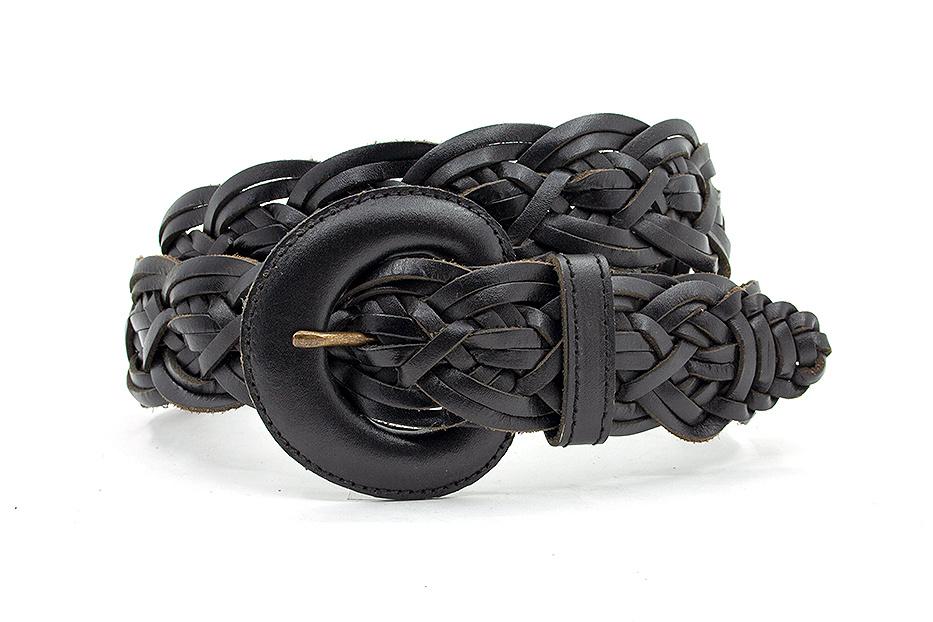 Thimbly Belts Zwarte  dames vlechtceintuur