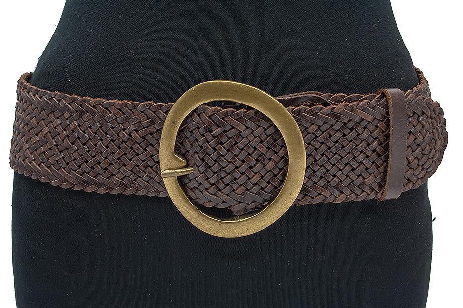 Thimbly Belts Bruine  dames vlechtceintuur
